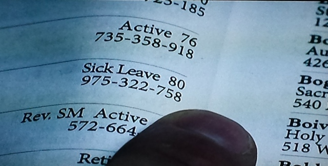 Reel Librarians | Sick leave designation in church directories