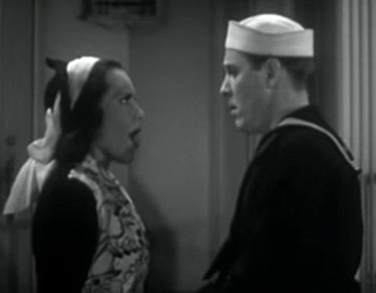 Screenshot from Navy Blues (1937)