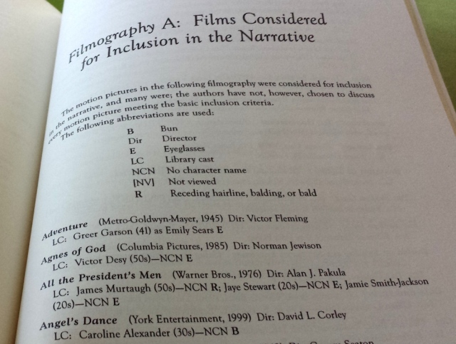 Reel Librarians | Filmography in 'The Image of Librarians in Cinema, 1917-1999'