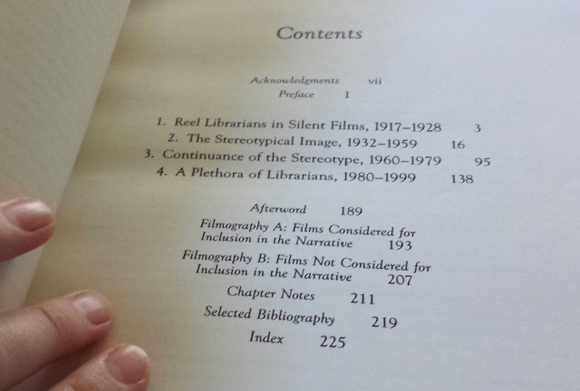 Reel Librarians | Table of contents of 'The Image of Librarians in Cinema, 1917-1999'