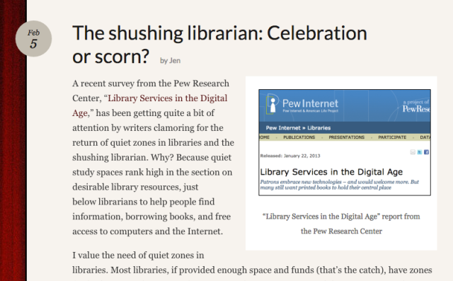 Screenshot from a favorite post on Reel Librarians