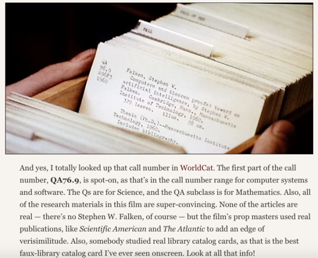 Reel Librarians | Screenshot from 'WarGames and research' post