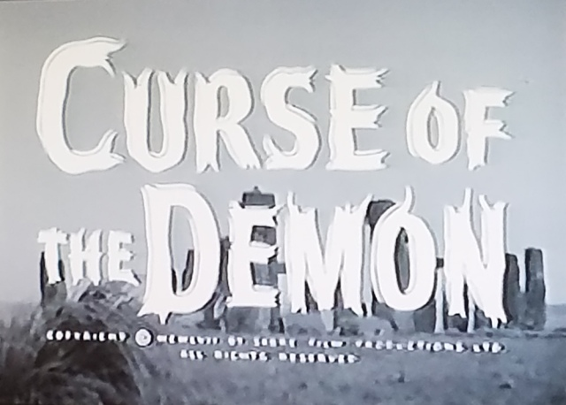 Reel Librarians | Title card of 'Curse of the Demon' (1957)