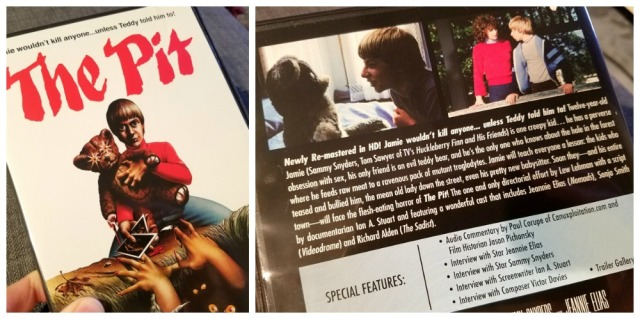 DVD front and back covers for The Pit (1981)