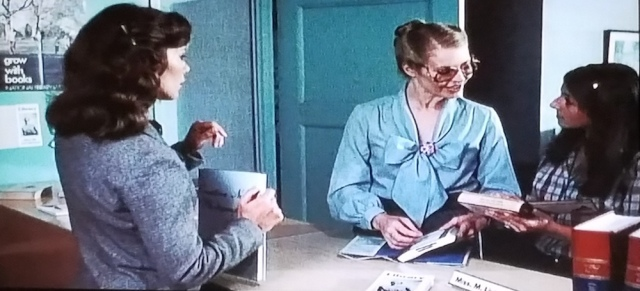 Reel Librarians | Public library counter in 'The Pit' (1981)