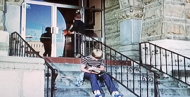 Library steps from The Pit (1981)