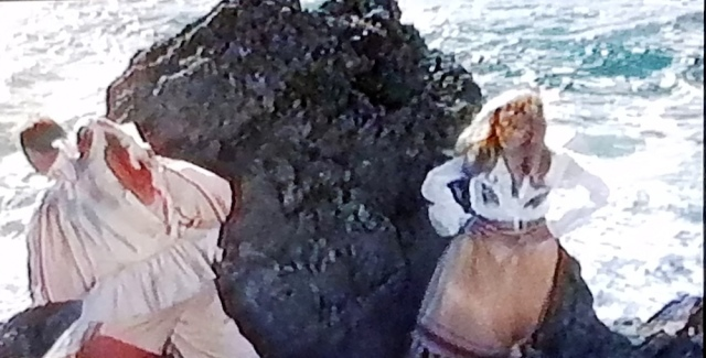 The librarian's May Day costume in The Wicker Man (1973)