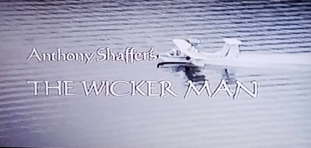 Reel Librarians | Screenshot of title screen from 'The Wicker Man' (1973)