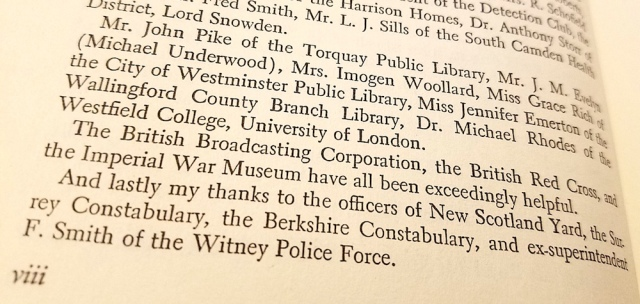 Librarian acknowledgments in The Mystery of Agatha Christie by Gwen Robyns