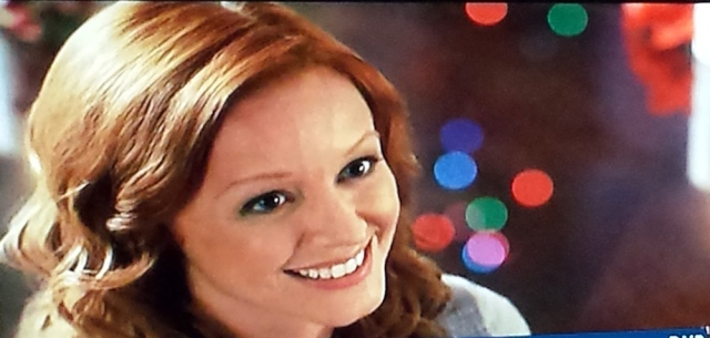 Closeup of Lindy Booth as reel librarian Cheri in The Twelves Trees of Christmas (TV, 2013)