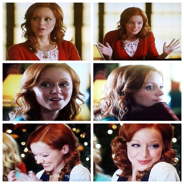 Collage of actress Lindy Booth's adorable facial expressions