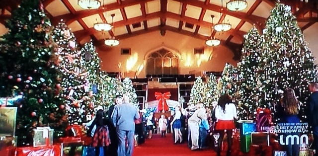 A display of Christmas trees from The Twelve Trees of Christmas TV movie