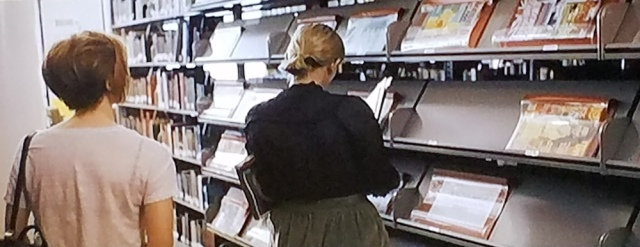 Shelving periodicals at the public library