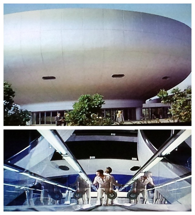 Library of the future, set in a mall-like luxury center, in Rollerball (1975)