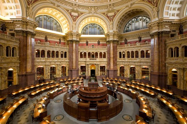 """""""LOC Main Reading Room Highsmith"""" by Carol M. Highsmith Archive collection at the Library of Congress is in the public domain"""