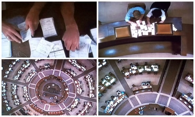 A bird's-eye view of the Library of Congress Reading Room, as seen in All the President's Men (1976)