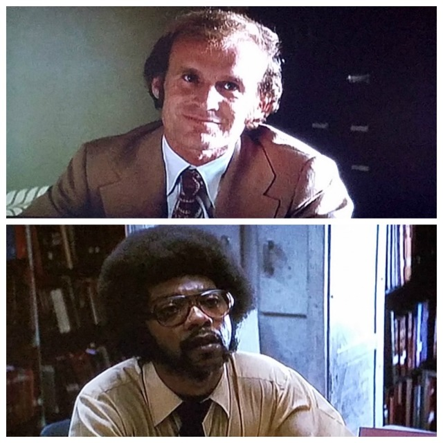 A contrast of two male librarians at the Library of Congress, in All the President's Men (1976)