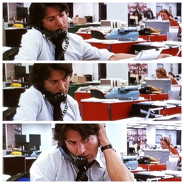 Bernstein calls the White House librarian in All the President's Men (1976)