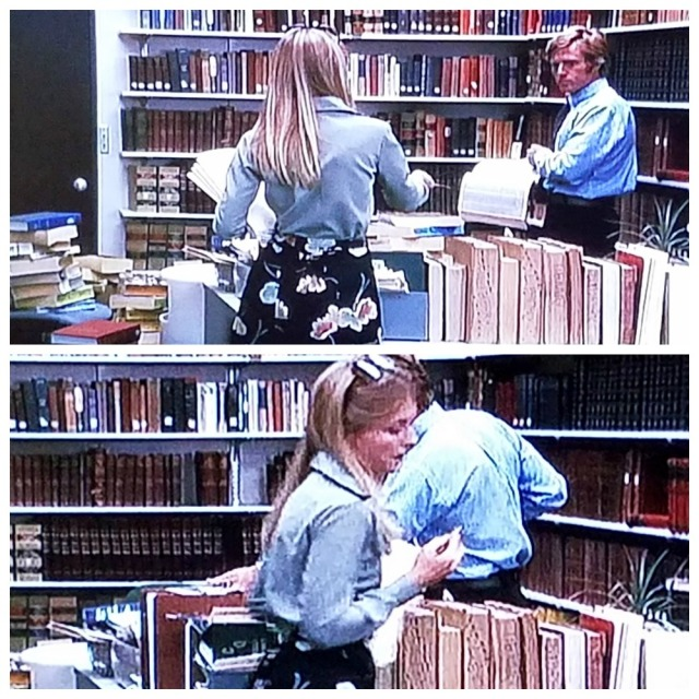 Reel Librarians | The second Post Librarian redeems the librarian profession, by providing a vital clue to Woodward, in 'All the President's Men' (1976)