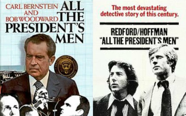 All the President's Men book and movie collage