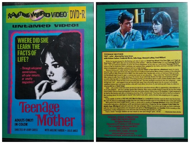 Reel Librarians | DVD case for 'Teenage Mother' (1967)
