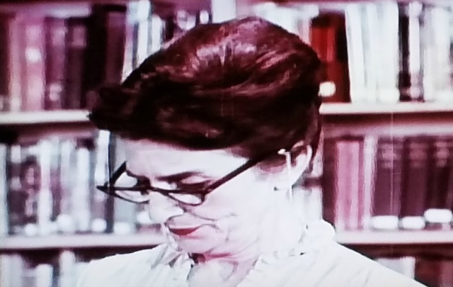 Librarian closeup from Teenage Mother (1967)