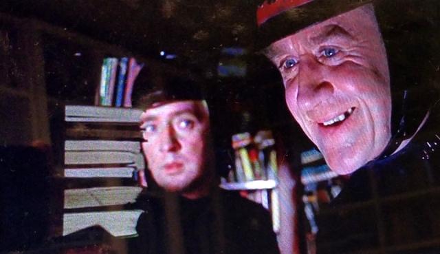 Captain Beatty and fireman Montag discover a hidden library
