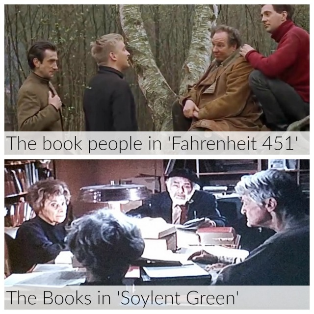 The book people in Fahrenheit 451 vs. the Books in Soylent Green
