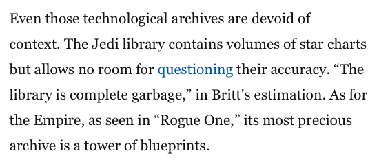 Reel Librarians | Screenshot of Washington Post article