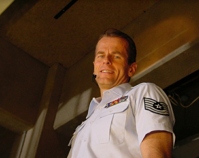 In uniform as Airforce Tech Sergeant Vern Alberts on Stargate SG-1, photo courtesy of Bill Nikolai