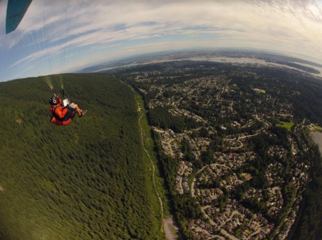 Paragliding librarian, photo courtesy of Bill Nikolai