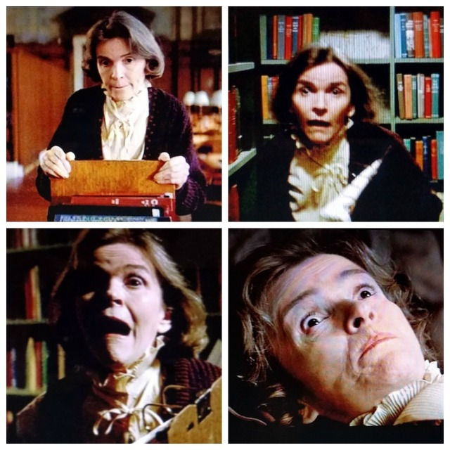 The many facial expressions from Alice the librarian in Ghostbusters (1984)