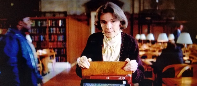 Opening shot of Alice the librarian in Ghostbusters (1984)