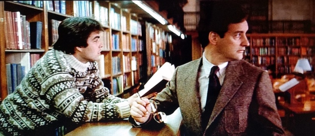 First glance at the library administrator in Ghostbusters (1984)