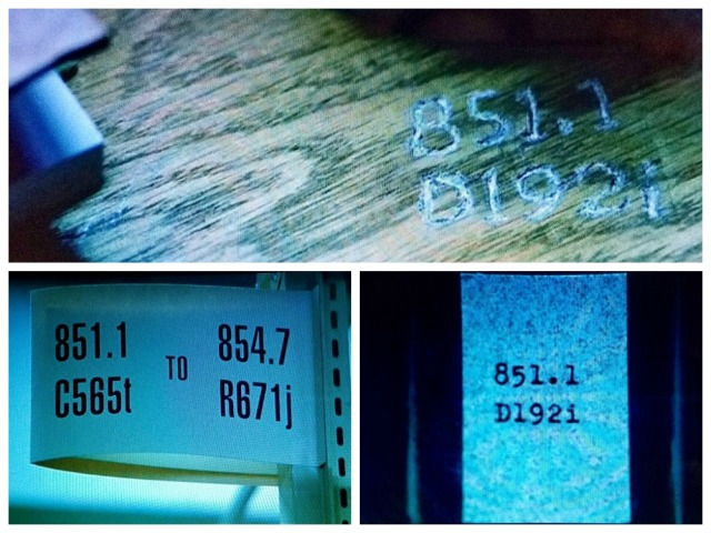Dewey call numbers collage
