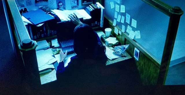 Personal cubicle in Abandon (2002)