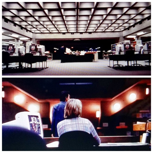 Library architecture from deleted scene in Abandon (2002)