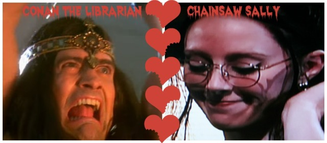 Conan and Chainsaw Sally collage