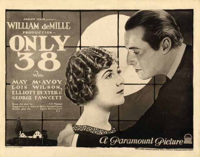 Movie poster for Only 38 (1923), public domain
