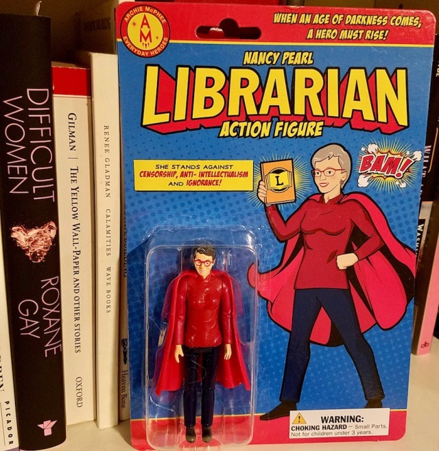 Librarian action figure closeup