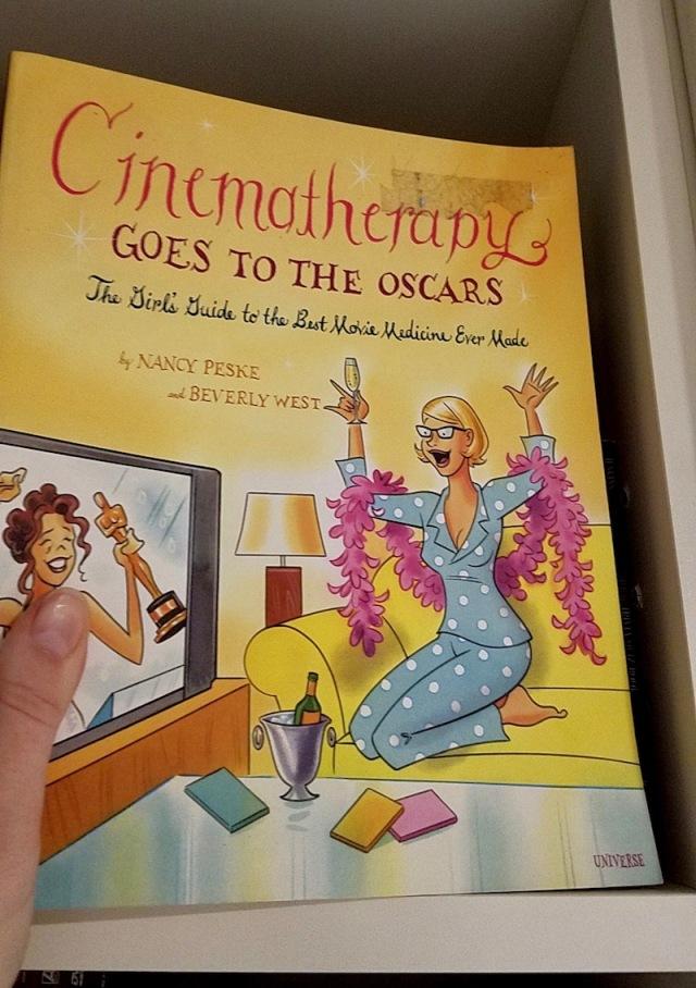 Closeup of Cinematherapy book