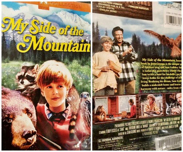 Reel Librarians | DVD front and back covers of 'My Side of the Mountain' (1969)