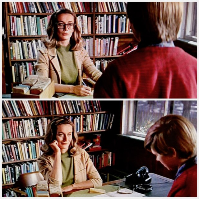 Reel Librarians | The reel librarian, with and without her glasses, in 'My Side of the Mountain' (1969)