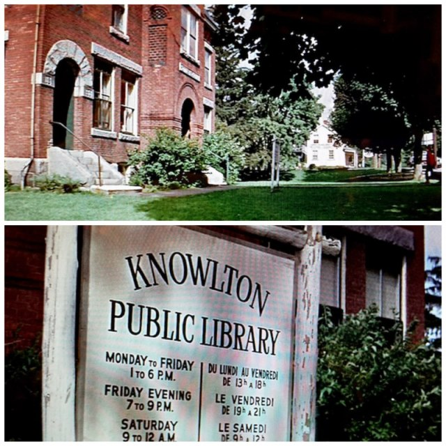 Screenshots of the public library and sign