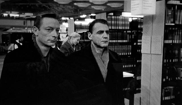 Angels in the library in Wings of Desire