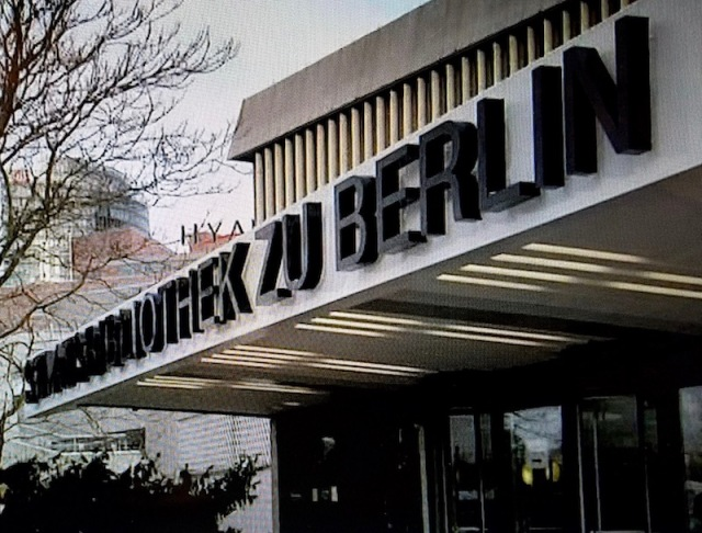 Staatsbibliothek zu Berlin, screenshot from the DVD featurette