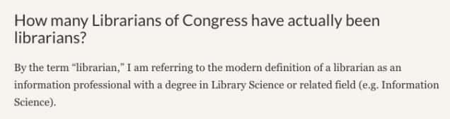 Screenshot from Librarians of Congress post