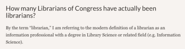 Screenshot from 'Librarians of Congress' post