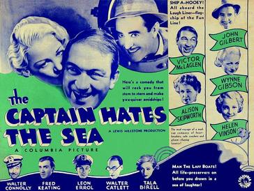 Poster for 'The Captain Hates the Sea' (1934)