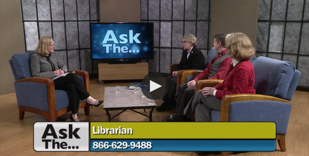 "Screenshot of ""Ask the Librarian"" TV episode"